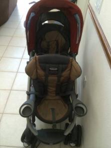 Graco Quattro double stroller brown red