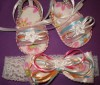 NEWWW FOR 2010 BABY SANDALS AND BOW HANDMADE SPECIAL - $10